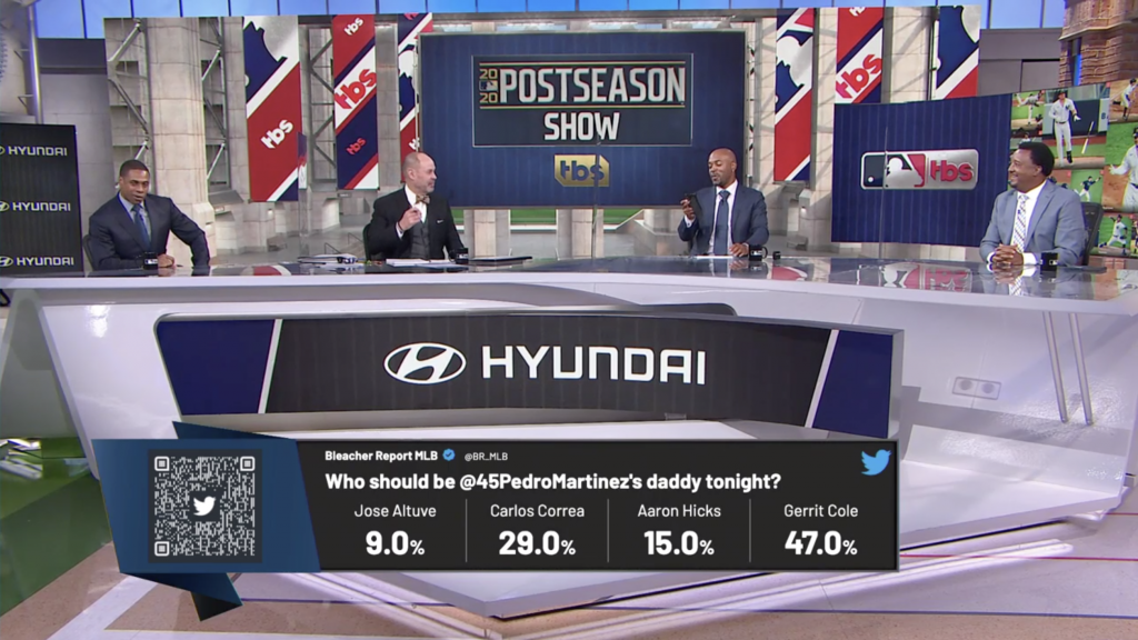Turner Sports MLB Postseason Poll produced with tagboard using a QR code