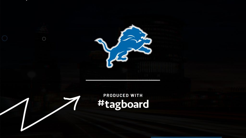 Detroit Lions NFL Draft Case Study Produced with Tagboard